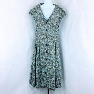 Peruvian Connection Pima Cotton Button Front Dress